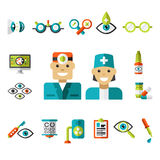 Optical icons, Ophthalmology Icons Set Stock Photography