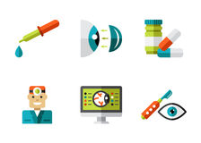 Optical Icons, Ophthalmology set, Vector Stock Image