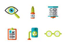 Optical Icons, Ophthalmology set, Vector Royalty Free Stock Photos