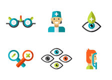 Optical Icons, Ophthalmology set, Vector Royalty Free Stock Images