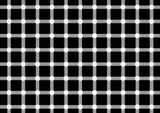 Optical illusion 1. Dark spots seem to appear and disappear very quickly at the intersections Royalty Free Stock Photos
