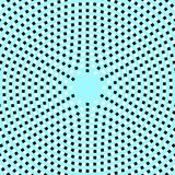Optical illusion. Vector illusion in blue background Stock Image