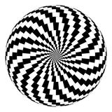 Optical illusion. Vector spiral optical illusion in white background Royalty Free Stock Image