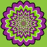 Optical illusion. Vector optical illusion in green background Royalty Free Stock Photo