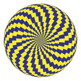 Optical illusion. Vector spiral optical illusion in white background Stock Images