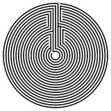 Optical illusion. Vector spiral optical illusion in white background Royalty Free Stock Photo