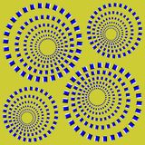Optical illusion. Abstract desgin with geometric shapes optical illusion illustration Stock Photography