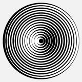 Optical illusion. Vector spiral optical illusion in white background Stock Photography