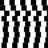 Optical illusion. Illustration - parallel lines Royalty Free Stock Photo