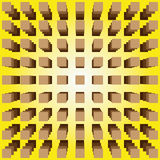Optical illusion. Abstract design with geometric shapes optical illusion illustration Stock Images