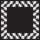 Optical illusion. Squares are same size but illusion of non parallel lines is visible. When image is smaller distorsion is more visible Stock Photos