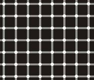 Optical illusion. Dark spots seem to appear and disappear very quickly at the intersections Stock Photos