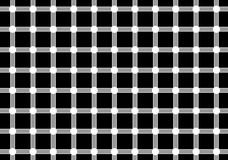 Optical illusion. Dark spots seem to appear and disappear very quickly at the intersections Stock Image