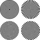 Optical illusion. Black and white  illustration of optical illusion background Stock Photo