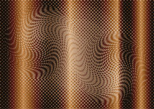 Optical illusion abstract on brown background Stock Photography