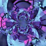 Optical illusion. Abstract circles. Fractal. Optical illusion stock illustration