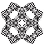 Optical illusion abstract element Royalty Free Stock Images