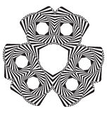 Optical illusion abstract element Stock Photos