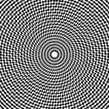 Optical illusion art abstract background. Black and white monochrome geometrical hypnotic circle pattern. Optical illusion art abstract background. Black and Stock Photography