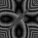 Optical illusion art abstract background. Black and white monochrome geometrical hypnotic square pattern. Optical illusion art abstract background. Black and Stock Photos