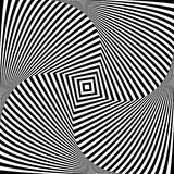 Optical illusion art abstract background. Black and white monochrome geometrical hypnotic square pattern. Optical illusion art abstract background. Black and Stock Photo
