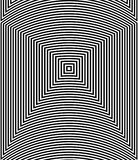 Optical illusion art abstract background. Black and white monochrome geometrical hypnotic square pattern. Optical illusion art abstract background. Black and vector illustration
