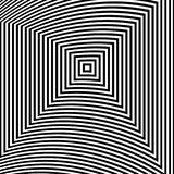 Optical illusion art abstract background. Black and white monochrome geometrical hypnotic square pattern. Optical illusion art abstract background. Black and Royalty Free Stock Photography