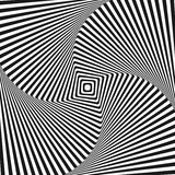 Optical illusion art square vector background Stock Photo