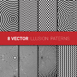 Optical illusion backgrounds set Royalty Free Stock Photography