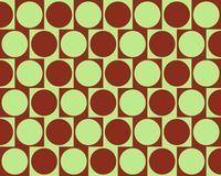 Optical Illusion Cafe Wall Effect Circles Deep Red. Green Made Through A Genetic Algorythm stock illustration