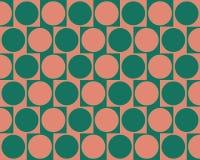 Optical Illusion Cafe Wall Effect Circles Pink vector illustration