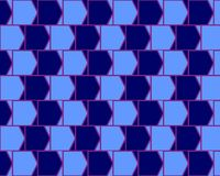 Optical Illusion Cafe Wall Variant  Cyan And Blue Stock Photography
