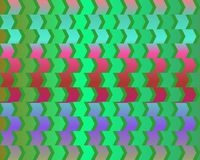 Optical Illusion Cafe Wall Variant  Red Green Stock Photo