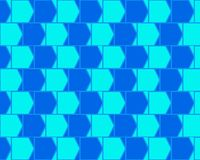 Optical Illusion Caffee Wall Variant Light Blue Stock Photos