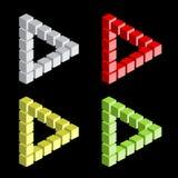 Optical illusion, colorful blocks royalty free illustration