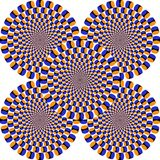 Optical illusion, colorful blocks Royalty Free Stock Photos