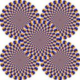 Optical illusion, colorful blocks Royalty Free Stock Photos