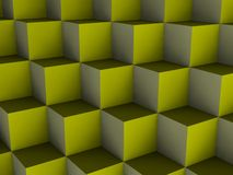 Optical illusion cubes Royalty Free Stock Image