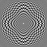 Optical illusion design. Abstract op art pattern. Vector illustration vector illustration