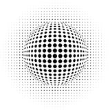 Optical illusion - dots vector illustration