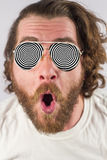 Optical Illusion Glasses Royalty Free Stock Photography