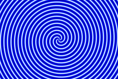 Optical Illusion Hypno Blue Royalty Free Stock Photography