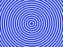 Optical Illusion Hypno Blue Circle Royalty Free Stock Photo