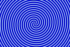 Optical Illusion Hypno Blue High Royalty Free Stock Images