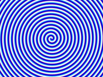 Optical Illusion Hypno Blue White Spiral Single vector illustration