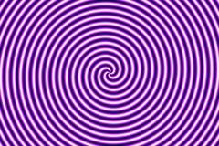Optical Illusion Hypno Purple Stock Photography