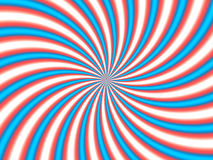Optical Illusion Hypno Red Blue Stock Photo