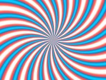 Optical Illusion Hypno Red Blue Stock Photo