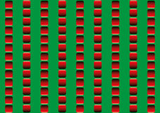 Optical Illusion Illusory Motion. Optical illusion, illusory motion - the rows of red squares seem to move up and down, and to run counter - seamless wallpaper royalty free illustration