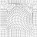 Optical illusion, moire background, abstract. Seamless monochrome grid. Unusual geometric pattern with visual effects Royalty Free Stock Photography